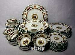 WEDGWOOD china COLUMBIA WHITE W595 pattern 60-piece SET SERVICE for 12